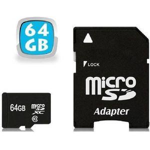 CARTE MÉMOIRE  Carte Micro SD 64 Go classe 10 SDXC smartphone ta
