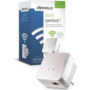 COURANT PORTEUR - CPL DEVOLO CPL Wi-Fi 550 Mbit/s Modèle 9625 dLAN 550 W