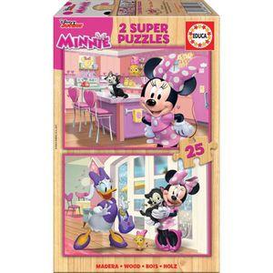 PUZZLE MINNIE Puzzle Lot de 2 puzzles de 25 pièces