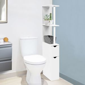 COLONNE - ARMOIRE WC Meuble WC étagère bois gain de place pour toilette