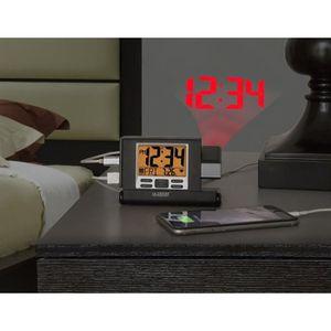 Radio réveil La Crosse Technology WT525 Réveil de voyage à proj