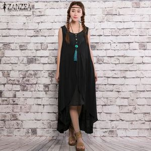 ROBE ZANZEA Robe Longue Femme Retro Asymmetric Kaftan R