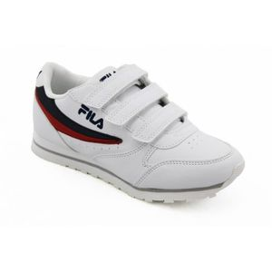 BASKET BASKET - FILA - ORBIT KIDS blanc-bleu