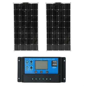 Fydun PWM Contr/ôleur de charge solaire automatique Contr/ôleur PWM 12//24V Identification automatique Double contr/ôleur de charge USB 60A