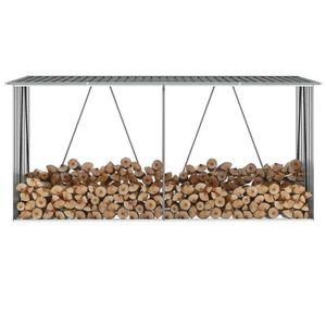 ABRI BÛCHES Abri de stockage de bois Acier galvanisé 330x84x15