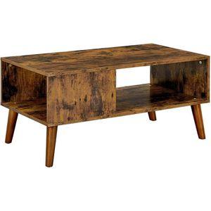TABLE BASSE VASAGLE Table Basse Rustique, Bout de canapé, avec