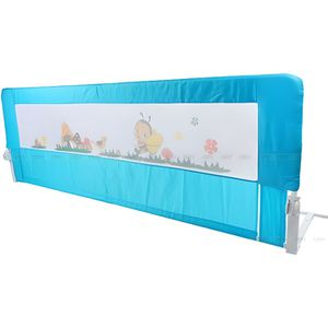 BARRIÈRE DE LIT BÉBÉ 180cm Barrière de Lit pour Enfants Sécurité - Bleu