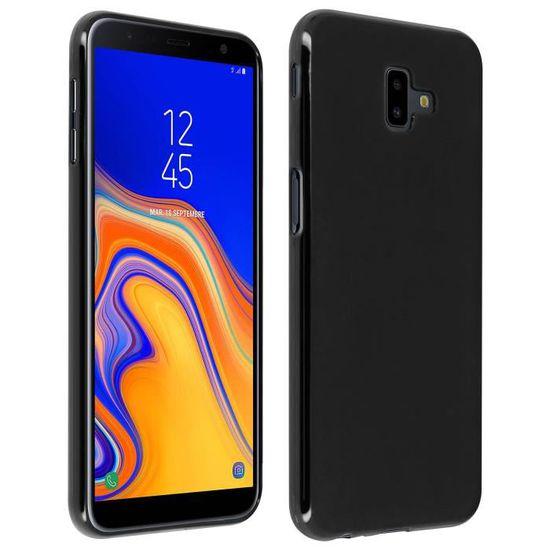 Coque Samsung Galaxy J6 Plus Silicone Gel Mat Protection Souple - Noir