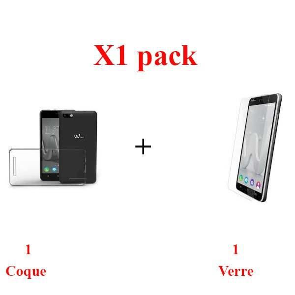 X1 pack verre + coque WIKO JERRY protection integrale