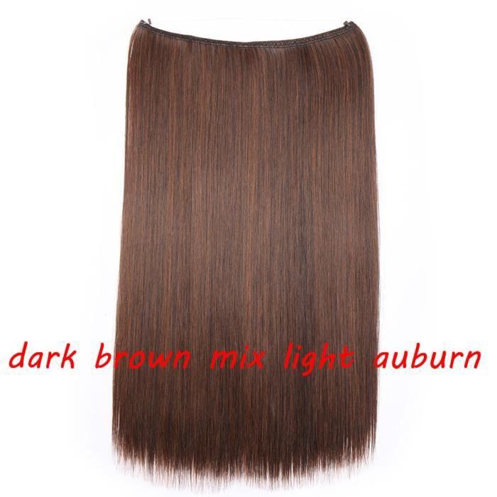 1513 20 pouces -S noilite 32 couleurs Invisible fil Halo pince à Extension de cheveux en faux cheveux postiches Extensions de cheve