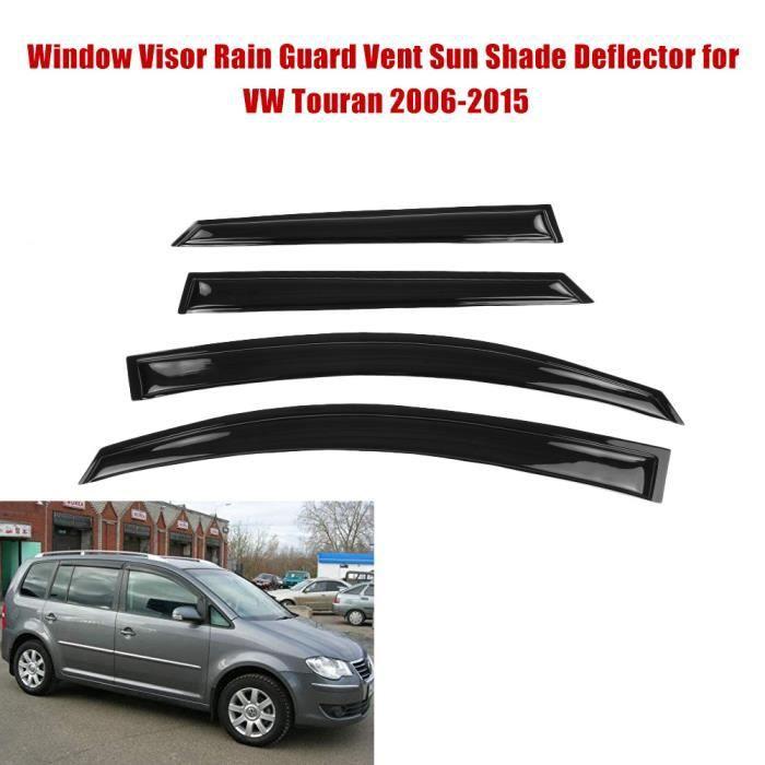 4 pièces pare-soleil de déflecteur de fenêtre de voiture pare-soleil pour Volkswagen Touran 2006-2015 Noir brillant