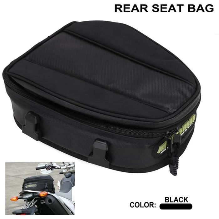 YSmoto Sac pour siège arrière de moto - Grande capacité - Imperméable - Multifonctionnel - Durable - Pour ranger un casque