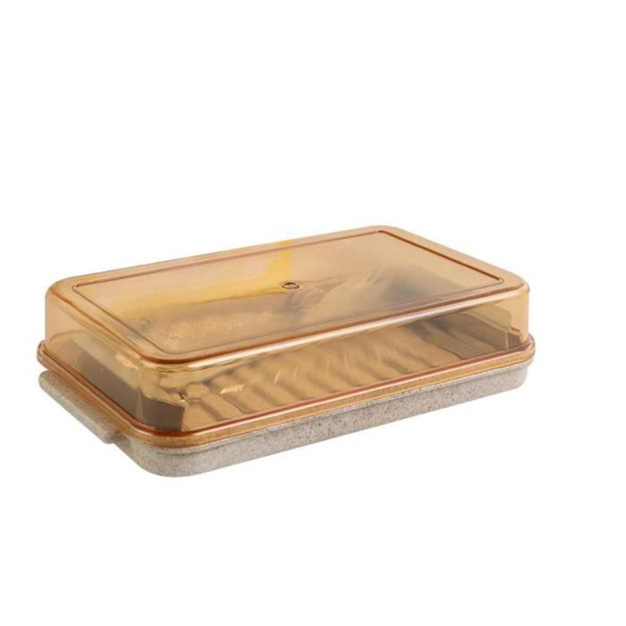 râpe,Récipient coupe beurre assiette en fer vaisselle beurre fromage boite fraiche pour découpe et rangement - Type Yellow #B