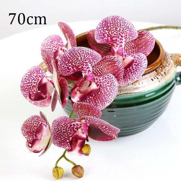 Décoration florale,Soie artificielle blanc orchidée fleurs de haute qualité papillon papillon Phalaenopsis fausse fleur - Type P