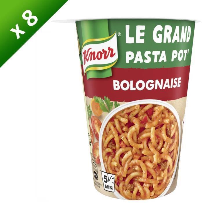 KNORR - Lot de 8 - Plat préparé Pasta Pot Bolognaise - 88 g