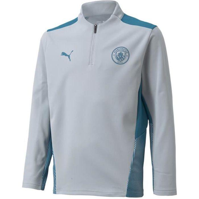 Maillot enfant Training Manchester City 2021/22 - gris clair/bleu clair - 14 ans