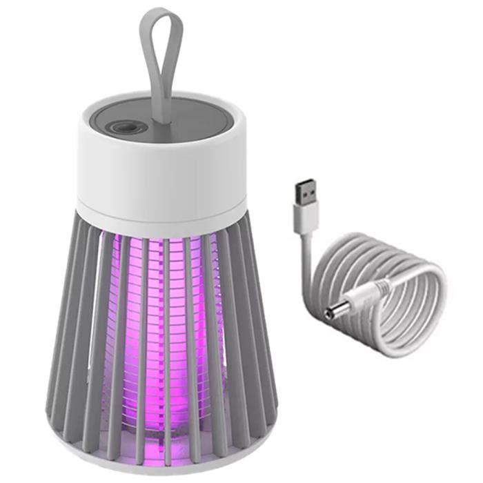 Mosquito mouches tueuses Zapper électriques insectes portables Chatcher rechargeable Flies Bugs LED Piège lampe gris
