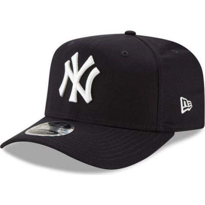 Casquette New Era NEW YORK YANKEES STRETCH SNAP 9FIFTY - Réf. 12134666. Couleur : Noir. Détails. - Visière plate. - Bouton