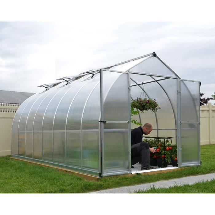 PALRAM Serre de jardin Bella 11,4 m² - Aluminium et polycarbonate - Double parois