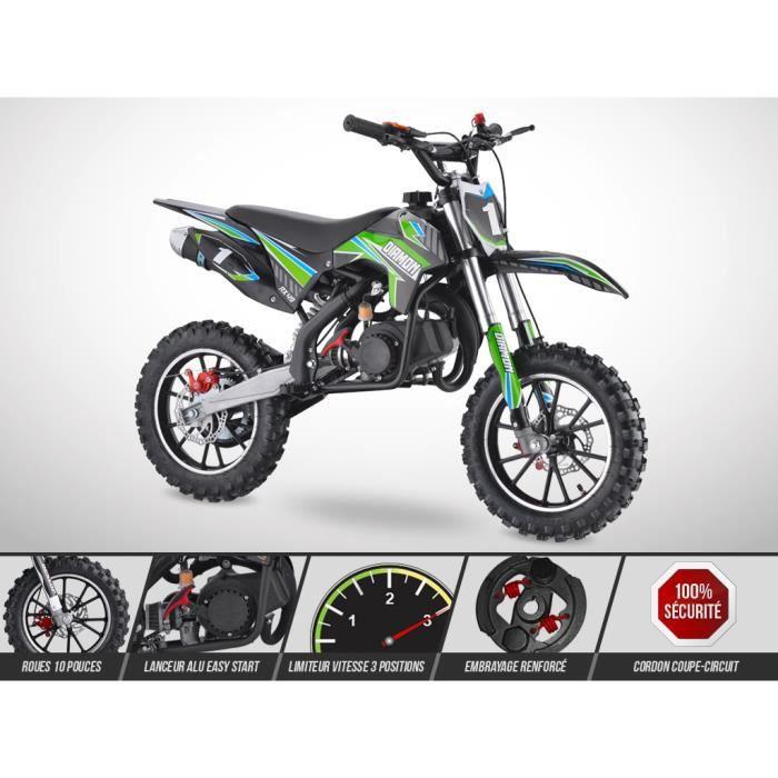Pocket Cross ORION 49 - Mini Moto Enfant 50cc - Édition 2021 - Vert