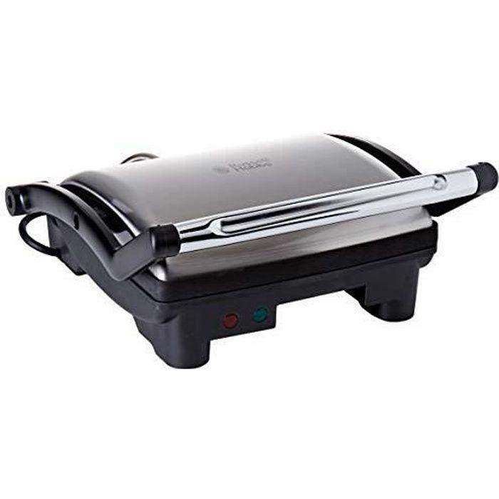 Russell Hobbs Grill 3en 1 CookAtHome Panini, Viande, Plancha Barbecue de Table, Grande Capacité - 17888-56 17888-56