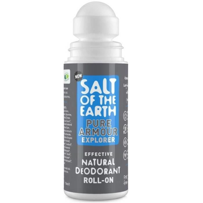 Salt Of the Earth Pure Armour Explorer Déodorant Roll-on pour homme 103 g - CRYS55