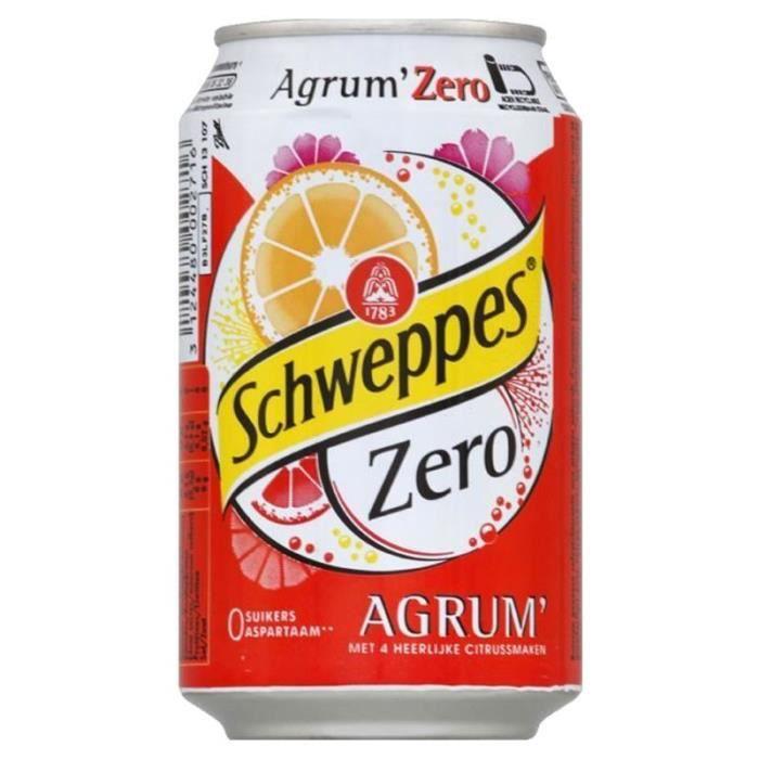 Schweppes Agrum Zero 33cl (pack de 24)