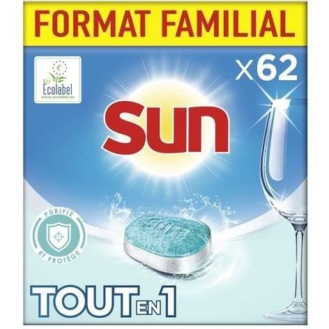 SUN Tablettes lave-Vaisselles Tout en 1 purifie et protège - x62