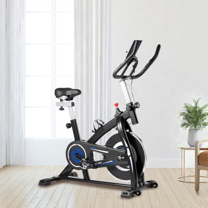 Velo biking spinning interieur Vélo d'appartement Silencieux d'Exercice Cyclisme Stationnaire Maison Entraînement Gym Cardio Bleu