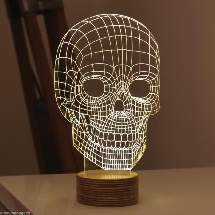 201 Nergie Bois 3d Mood Lamp Bulbaison Lumi 232 Re Skull Micro
