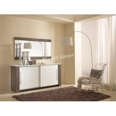 ensemble bahut miroir omega achat vente buffet bahut ensemble bahut miroir ome cdiscount. Black Bedroom Furniture Sets. Home Design Ideas