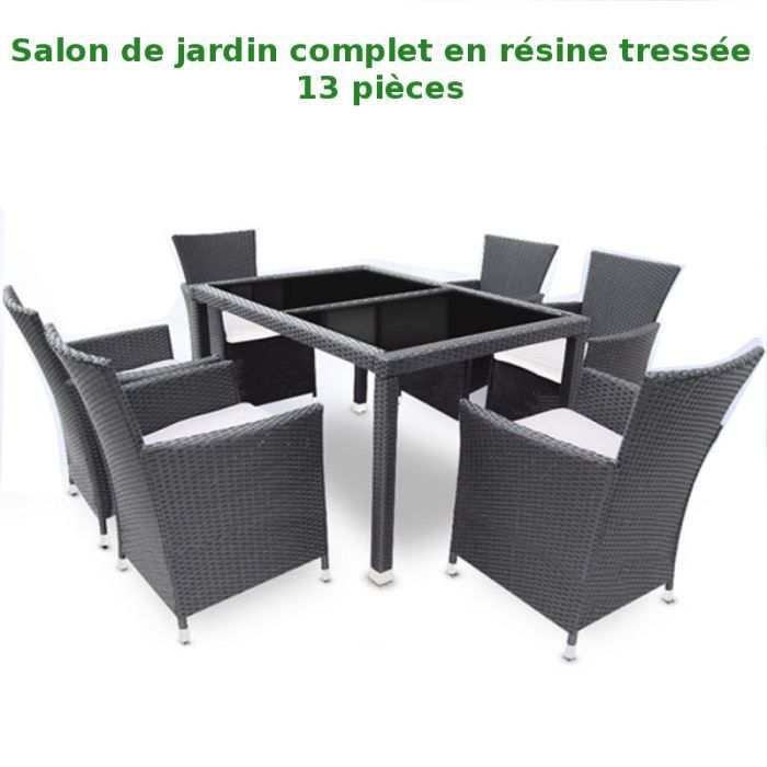 Salon jardin resine tressee les bons plans de micromonde for Salon resine tressee
