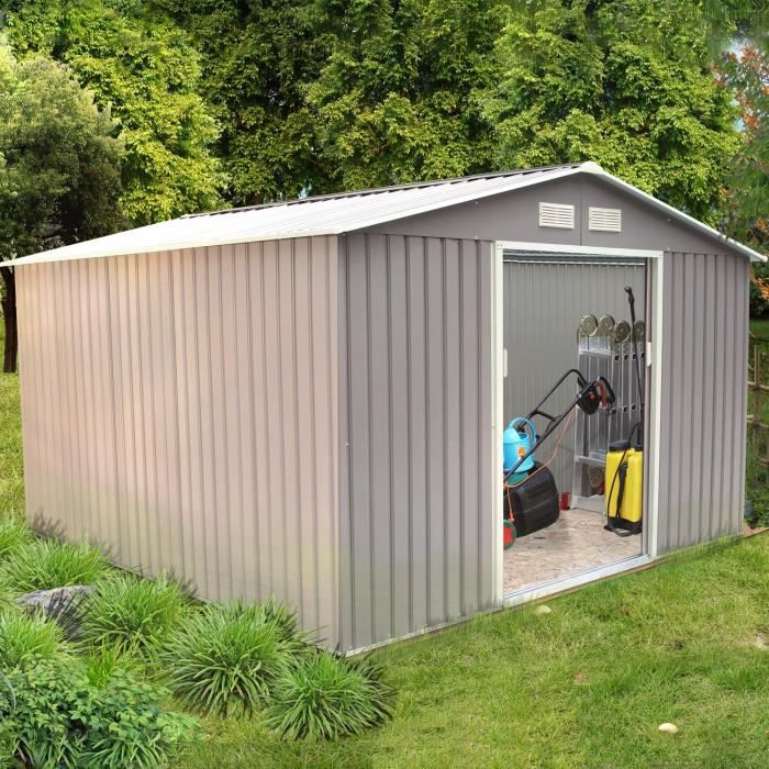 Sancy 10 85 M Abri De Jardin En Metal Anti Corrosion Gris Achat Vente Abri Jardin Chalet Sancy 10 85 M Abri De Cdiscount
