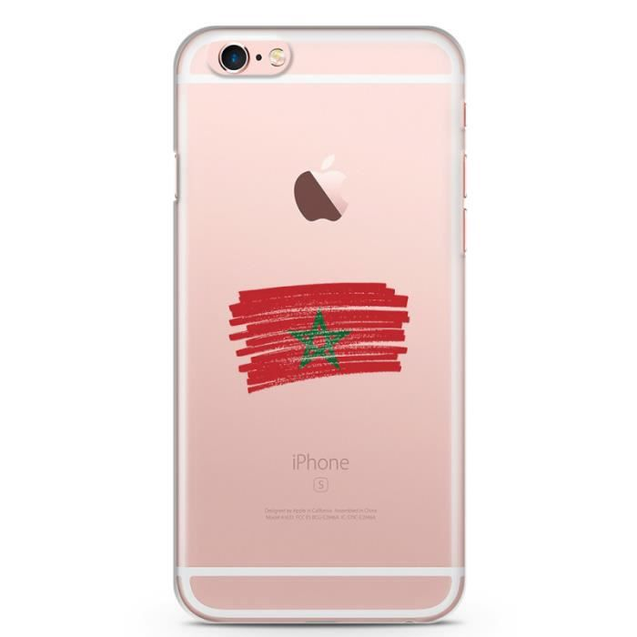 Coque iPhone 6 Plus/6s Plus Maroc Noir - Cdiscount Téléphonie