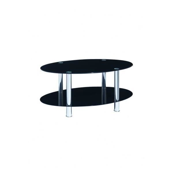 milano table basse ronde noire verre pour manger ou salon. Black Bedroom Furniture Sets. Home Design Ideas
