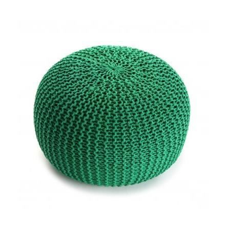 pouf tricot design vert achat vente pouf poire polyester cdiscount. Black Bedroom Furniture Sets. Home Design Ideas
