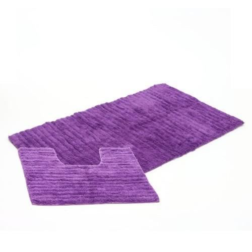 tapis salle de bain contour wc violet achat vente tapis de bain cdiscount. Black Bedroom Furniture Sets. Home Design Ideas