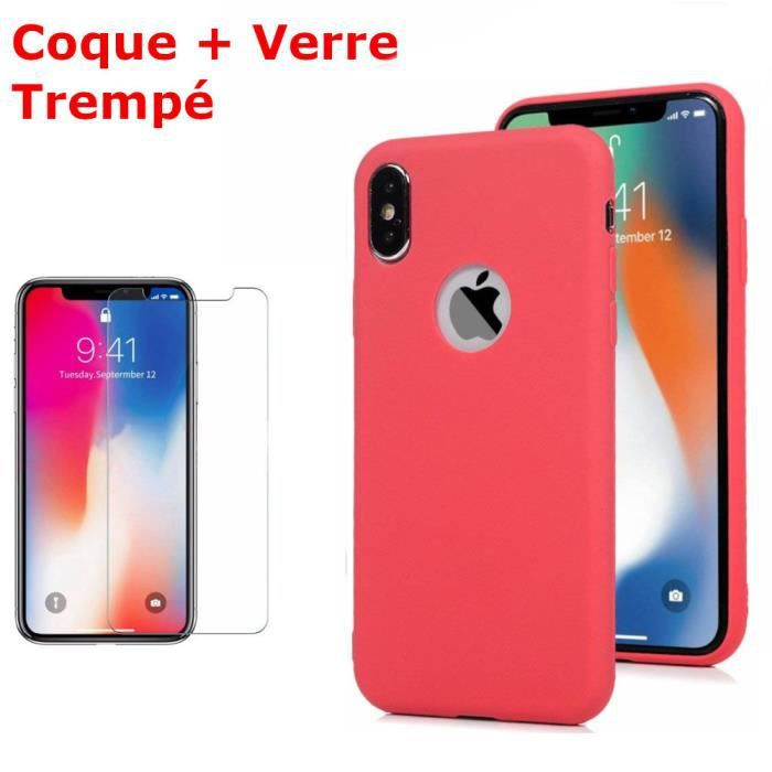 coque silicone iphone xr rouge