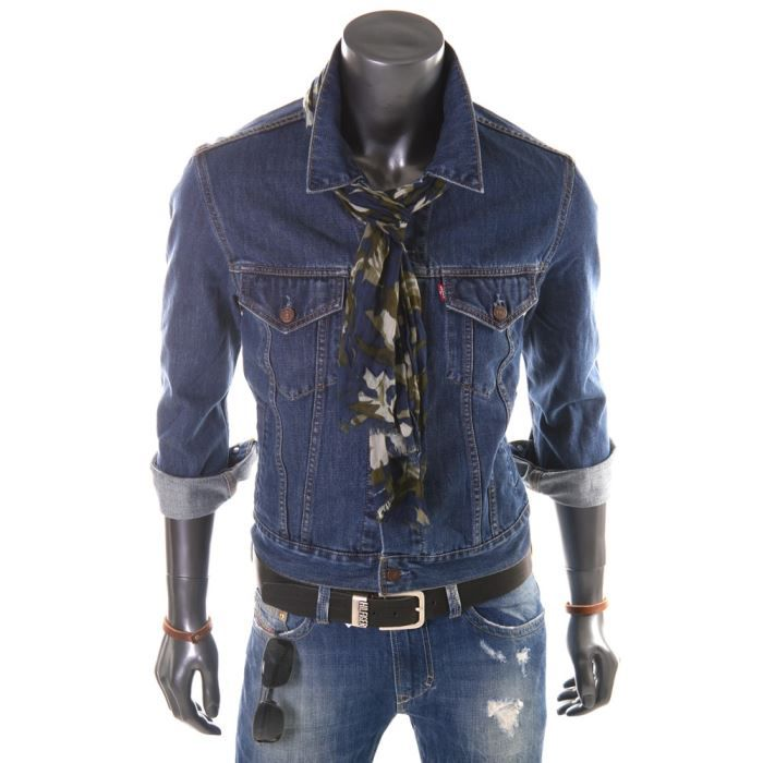 veste en jeans levis bleue homme bleu achat vente. Black Bedroom Furniture Sets. Home Design Ideas