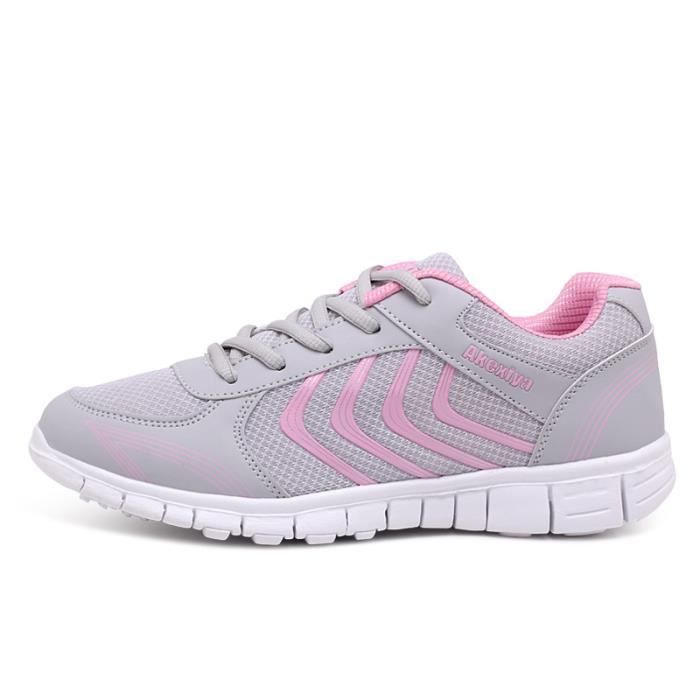 Baskets Homme Chaussure hiver Jogging Sport Ultra Léger Respirant Chaussures BXX-XZ230Rose39