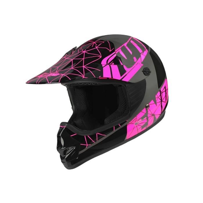 449fdafd75b81a CASQUE MOTO SCOOTER Casque Cross Enfant NO END Origami - Glossy Noir