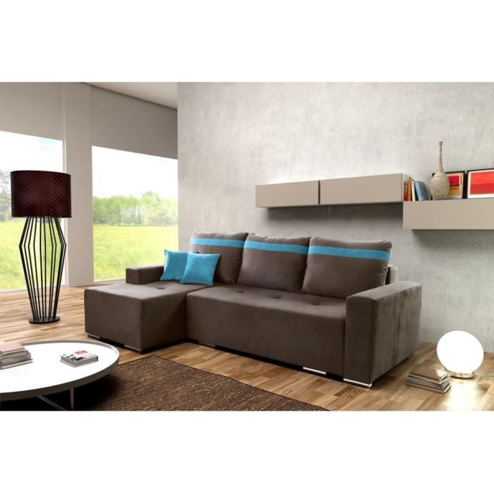 canap lit d 39 angle stylio achat vente canap sofa divan cdiscount. Black Bedroom Furniture Sets. Home Design Ideas