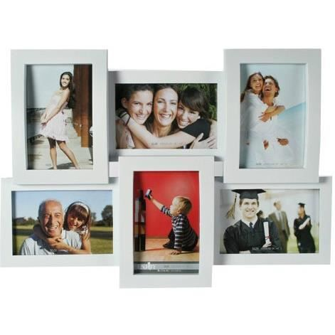 cadre photo mural multiple 3d 45 x 32 cm blanc achat vente cadre photo cdiscount. Black Bedroom Furniture Sets. Home Design Ideas