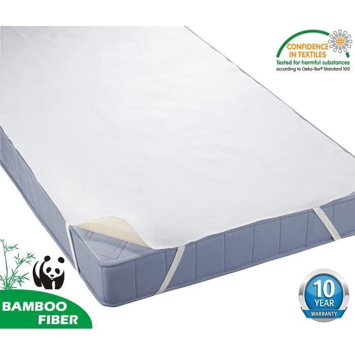 Tofern al se 200 x 190 200 bambou 100 imperm able anti for Housse anti acarien prix