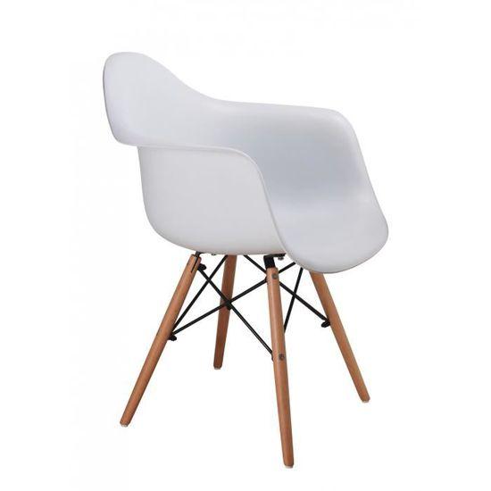 chaises scandinave LOT avec DE blanhe RETRO 2 accoudoir rtsohQdCxB
