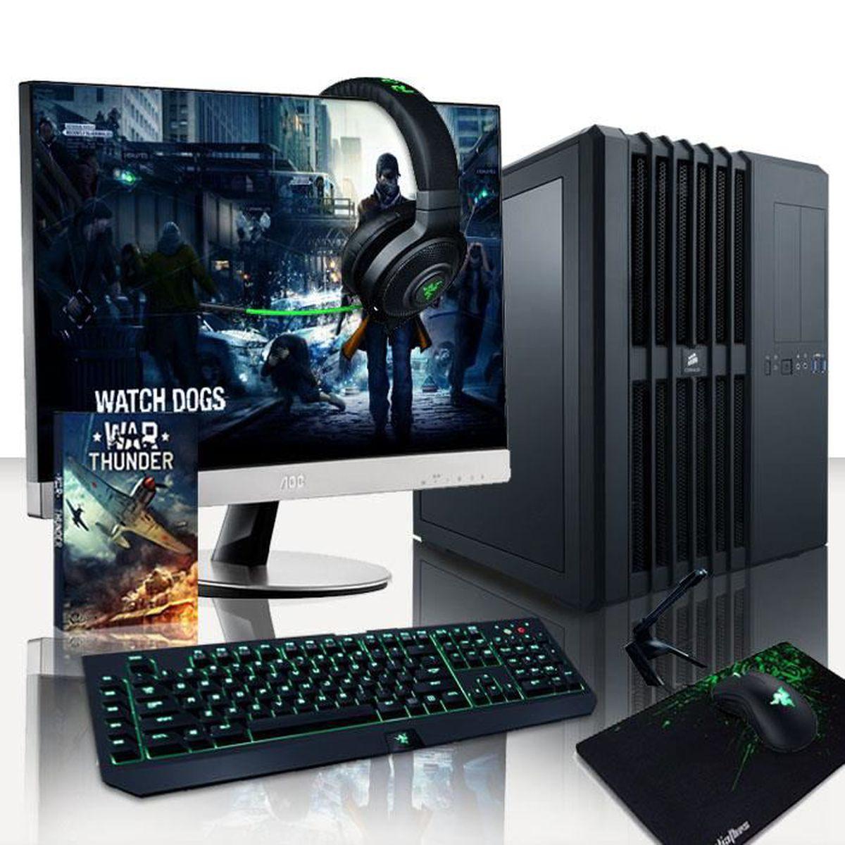 UNITÉ CENTRALE + ÉCRAN VIBOX Legend Pack 17 PC Gamer - Intel 8-Core, 2x G