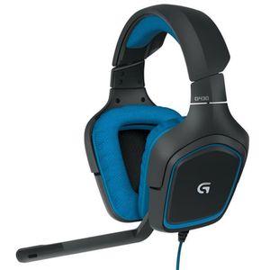 CASQUE AVEC MICROPHONE Logitech G430 7.1 Wired Surround Sound Gaming Casq