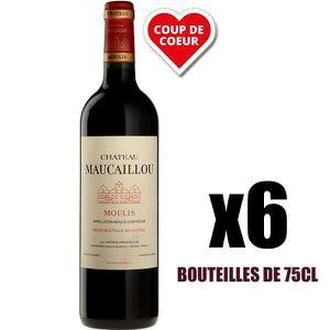 VIN ROUGE X6 Château Maucaillou 2016 75 cl AOC Moulis-en-Méd
