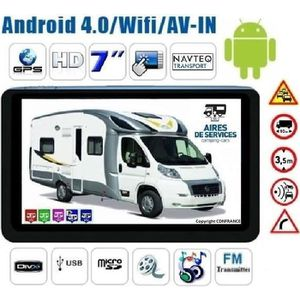 PACK GPS AUTO GPS CAMPING CAR ANDROID INTERNET HD 7 POUCES