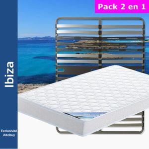 ENSEMBLE LITERIE Ibiza - Pack Matelas + AltoZone 140x200